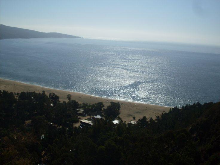 desde las alturas de la cuesta laguna verde, valparaiso, playa grande de laguna verde