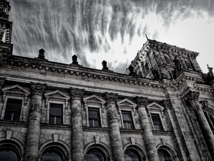 Shot at Bundestag -- Berlin !!   #photography #architecture #bw