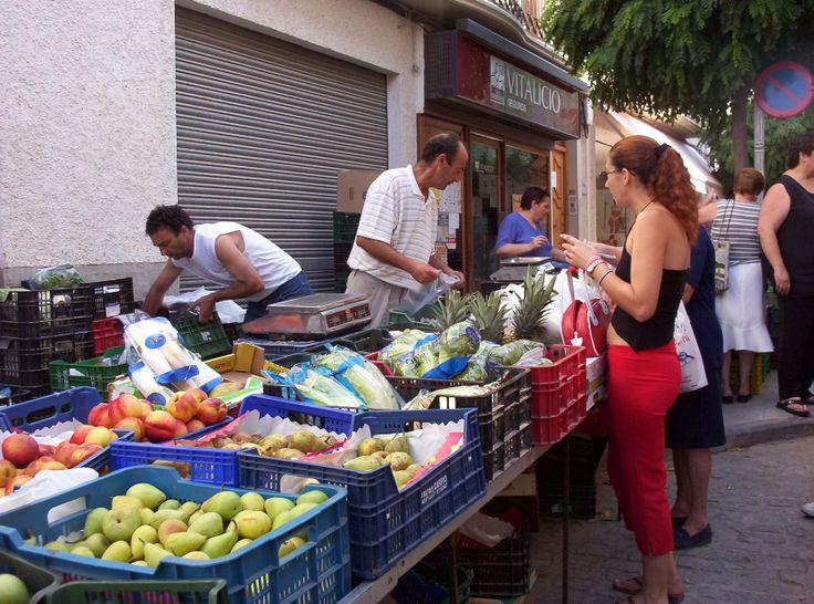 a modern market stall