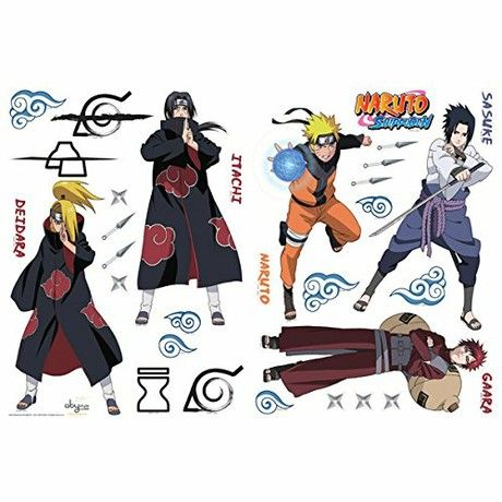 """ABYstyle 100 x 70 cm """"Naruto Shippuden"""" Sticker (Multi-Colour)"""