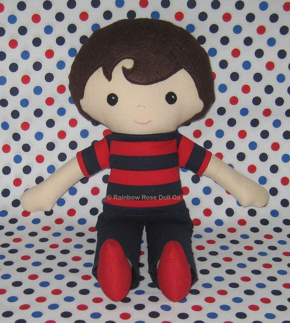 Boy Rag Doll Pattern PDF Cloth Doll Pattern by rainbowrosedollco, $12.00