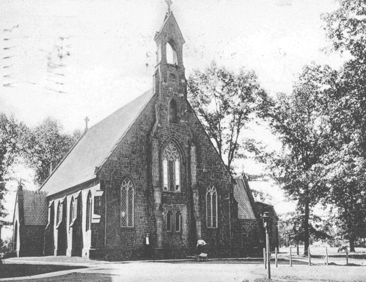 Immaculate Conception Chapel - Seton Hall University, South Orange - In 1895, the Chapel still had the bell tower.