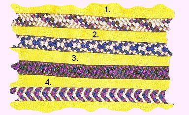 Meval Arts & Crafts: Kumihimo: eight bobbin flat cord