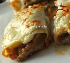 A comer y a callar: CANELONES DE CARNE Y PATE CON THERMOMIX