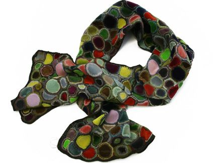 Sophie Digard Velvet Circle Scarf in Multi : Ped Shoes