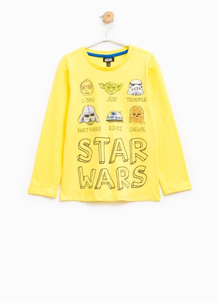 Compra online Camiseta de algodón con estampado de Star Wars en OVSFASHION.COM. Descubre las mejores ofertas en la categoría undefined de la colección 2017.