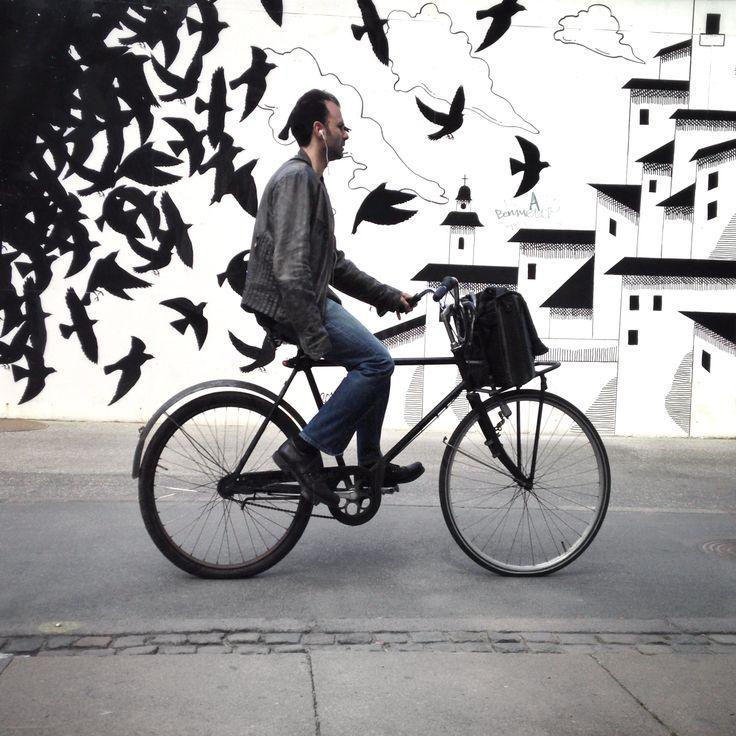 Street Wall Art Black And White : Cool black and white street art in copenhagen graffiti