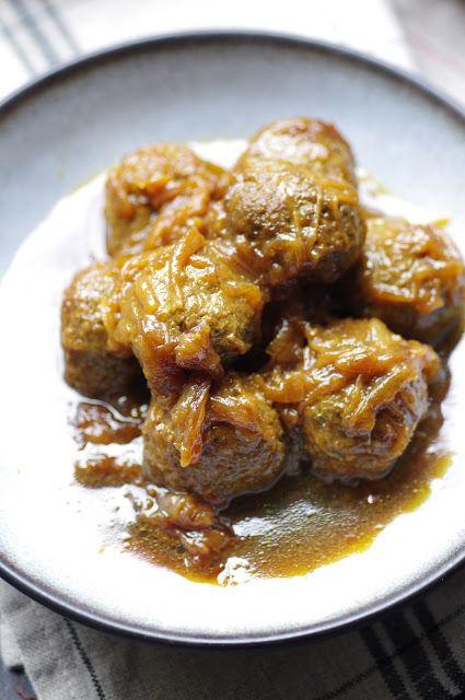 Boulettes de viande aux oignons