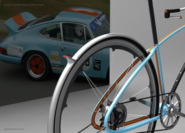 Porsche bike by David Schultz, via Behance