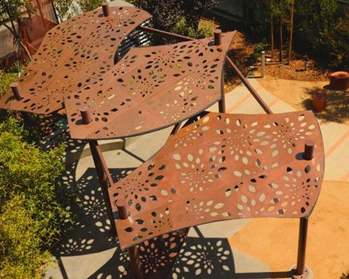 31 best images about shade structures on pinterest for Metal sun shade structures