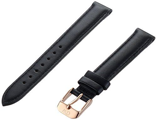 Daniel Wellington Damen-Uhrenarmband Classy Sheffield Leder schwarz Schließe rosegold 1001DW - http://autowerkzeugekaufen.de/daniel-wellington/daniel-wellington-damen-uhrenarmband-classy