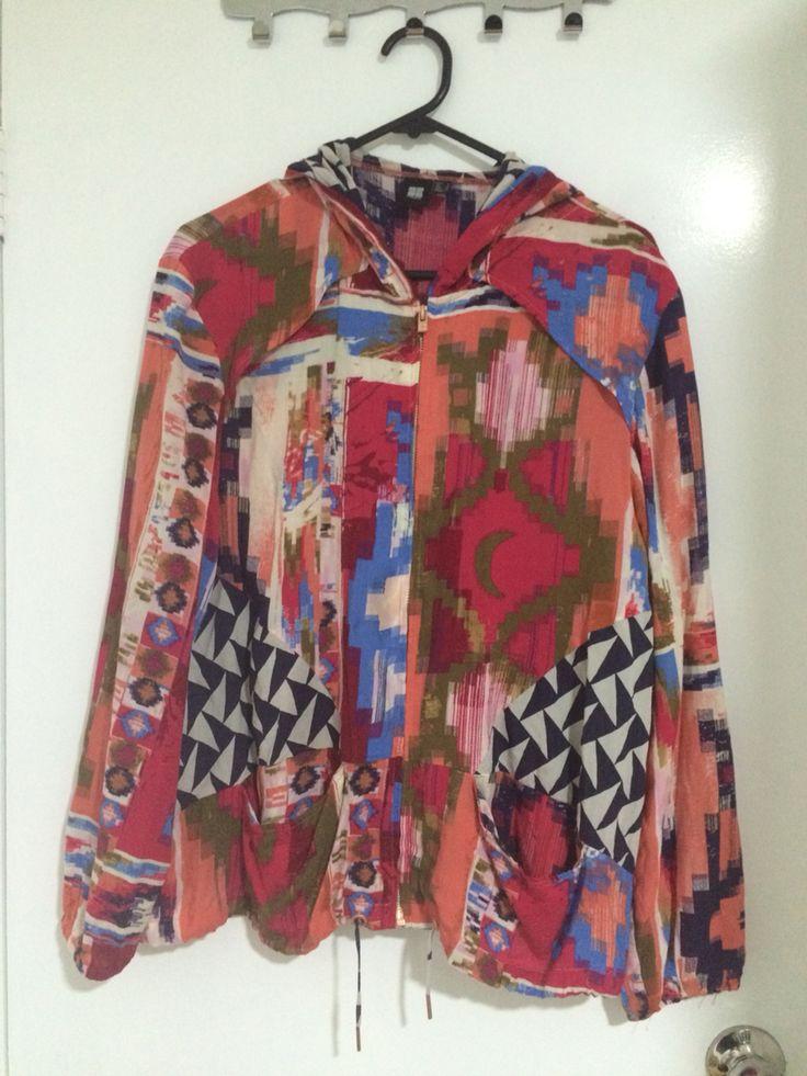 Graphic jacket.