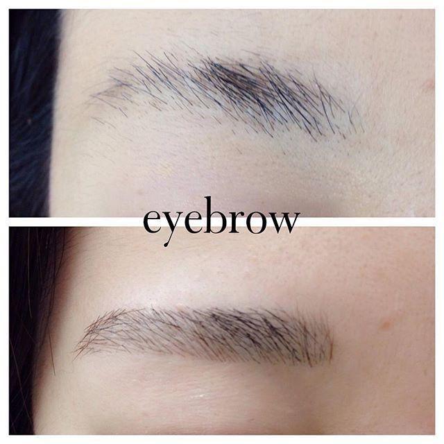 ②アイブロウペンシルで眉毛が薄い部分に1本1本の毛のようにして輪郭を書いていく。