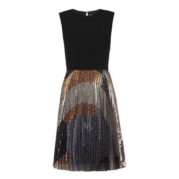 """VICTORIA, VICTORIA BECKHAM"" Crepe Lamé Print Dress at Brown Thomas"