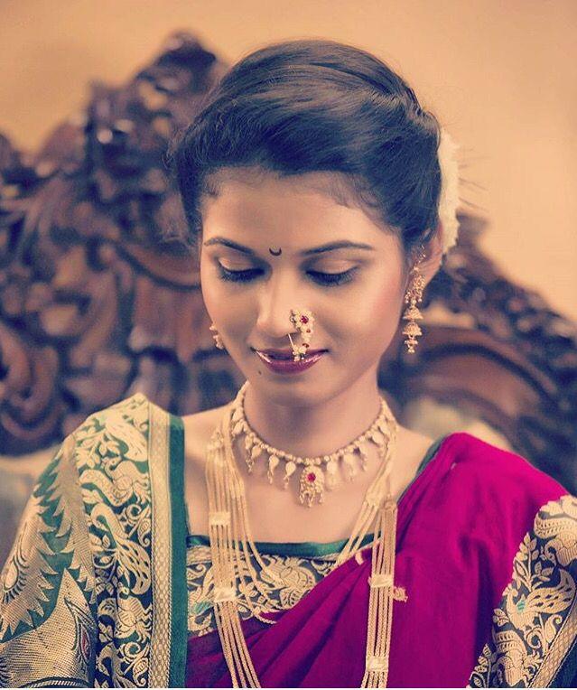 Hairstyle For Bride On Saree: 35+ Hairstyle For Short Hair On Nauvari Saree, New Inspiraton