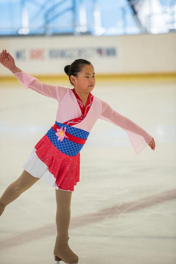 dbdac29d7 Figure Skating Dress Inspired by Mulan Size 2T through Girls ...