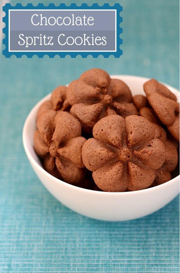 chocolate spritz cookies - photo #7