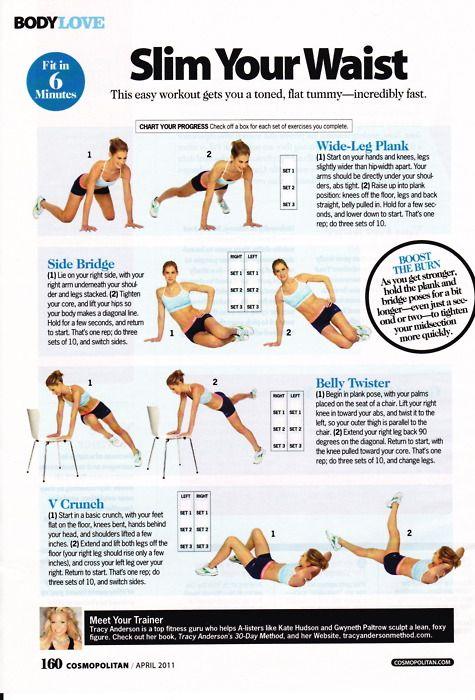 waist workout.