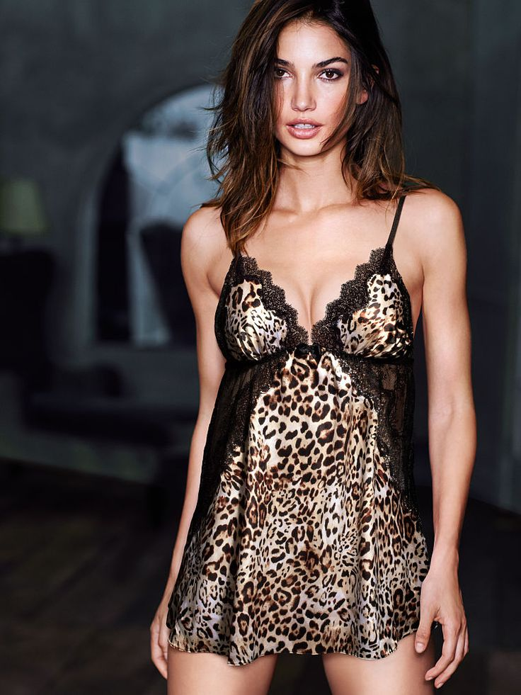 Make it a late night in leopard. // Victoria's Secret Satin & Chantilly Lace Babydoll