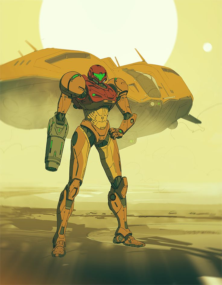 adamabaines:  A colour test on an the Samus piece. I need to get round to finishing this!