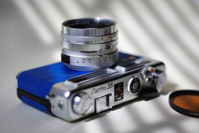 Blue Yashica Electro 35