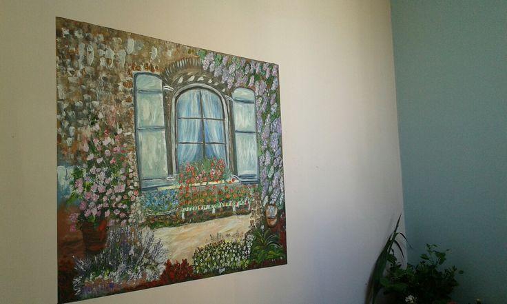 Παραθυρο στο τοιχο με σπατουλα