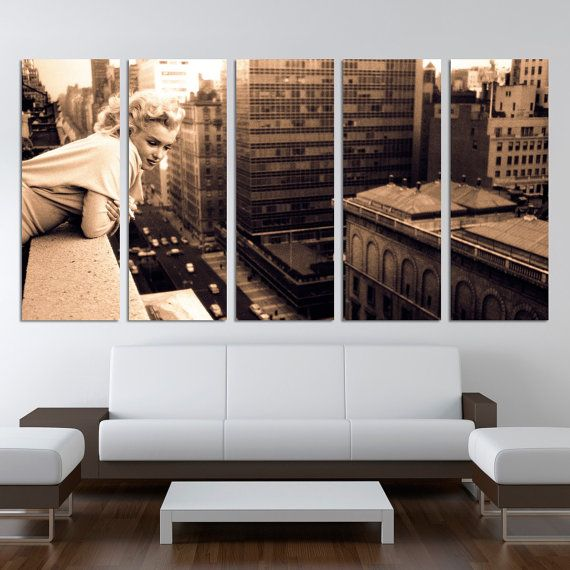 Marilyn Monroe 5 split panels Home Decor Chicago Canvas Prints Framed large art prints /pictures for bedroom wall art/ Office Decoration by…