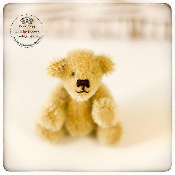 Teddy Bear MIA Artist OOAK Mohair Bear Mohair by TeacupTeddyBears