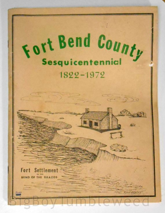 In this #Souvenir booklet are presented the histories of the principle cities and towns of Fort Bend County. #FortBend County 1822-1972 TEXAS state Sesquicentennial book History genealogy  Fort Bend County Texas Sesquicentennial 1822-1972, #etsy
