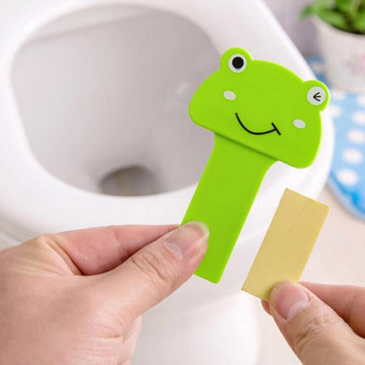 Cute Cartoon Plastic Toilets Lid Lifter Handle Sticker Prevent Hands Dirty Toilet Cover Lifting Device Bathroom Suppliers