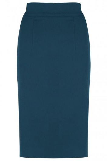 The Petrol Pencil Skirt by BANNOU