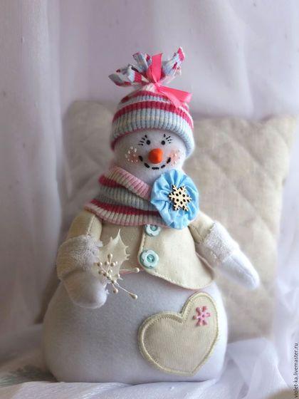 New Year 2016 handmade.  Order Snegovichki !!!.  Tatiana Abramenkova.  Arts and crafts fair.  Snegovichok, Christmas snowman, fleece