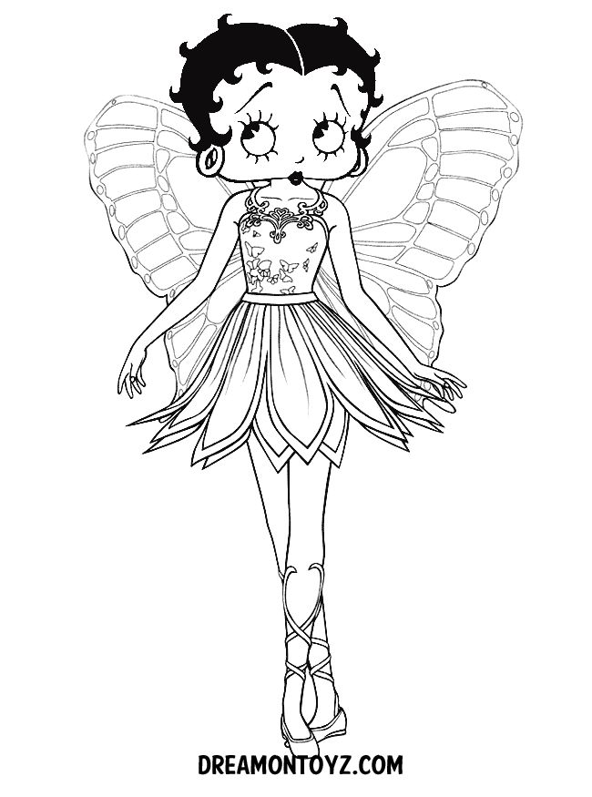 38 best Betty Boop images on Pinterest Coloring pages, Adult - copy coloring pages barbie ballerina