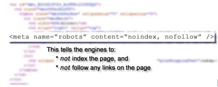 Un ejemplo de cómo una línea de #código podría destruir su #posicionamiento en los motores de búsqueda (#SEO) en el momento de hacer un #rediseño a su sitio #web.  #desarrolloweb