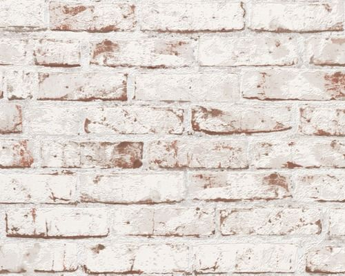 Vliestapete 9078-13 New England 2 / Wood`n & Stone Mauerstein rot