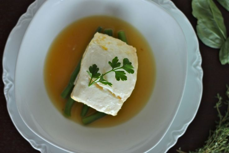 Lemon and Herb Poached Halibut | Halibut, Herbs and Lemon