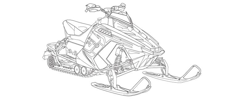 Snowmobile Coloring Sheets For Kids Coloring Pages