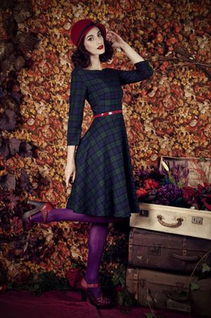 Hattie Blackwatch Tartan - 1950s Dresses Vintage Inspired | Edinburgh | Lady JoJo's Boutique