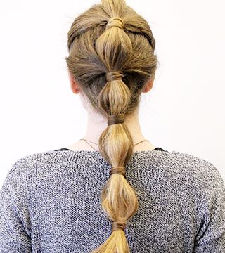 """""""3 Party Ponytails You Can DIY At Home"""" AKA - If anyone needs to be Khal Drogo for halloween. The second one. For reals."""