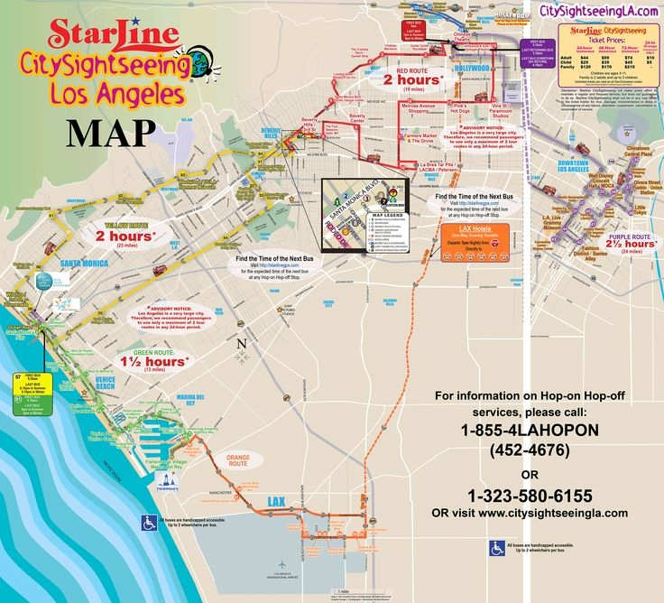 15 Best Mexican Food Santa Monica Images On Pinterest: Starline Hop On Hop Off Los Angeles Map At Infoasik.co
