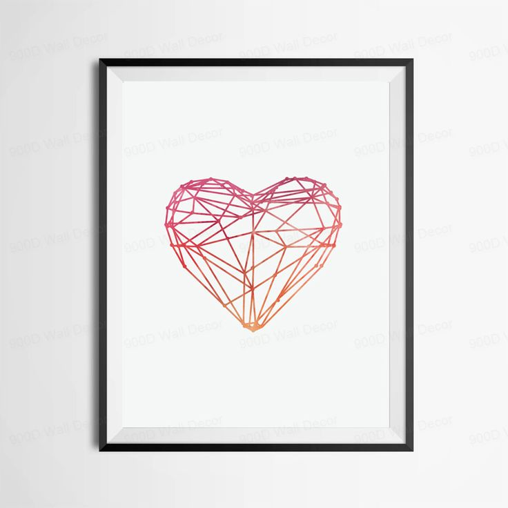 US $6.38 -- AliExpress.com Product - Watercolor Heart Canvas Art Print Poster, Wall Pictures for Home Decoration, Frame not include