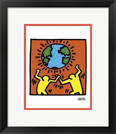 KH02 by Keith Haring Framed Art Print