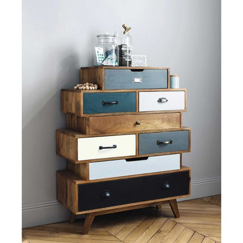 piccadilly cassettiera vintage in mango massiccio multicolore l 86 cm maisons du monde mobili. Black Bedroom Furniture Sets. Home Design Ideas
