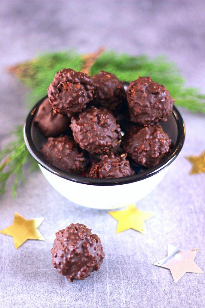 Truffes croustillantes chocolat au lait, passion et pralin - Crispy Chocolate and passion fruit Christmas Truffle The Happy Cooking Friends