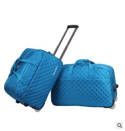 """2016 brand 24"""" Large luggage Bag trolley Case travel bag on wheels for women men suitcase Travel Duffle Travel Rolling Babage"""