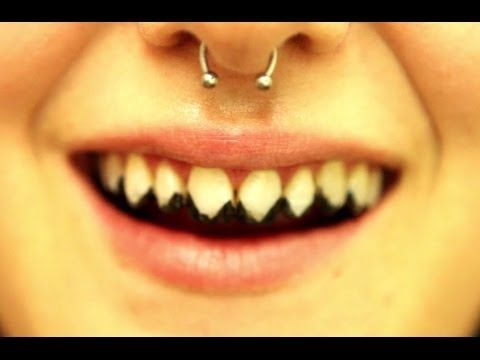 Tooth Enamels: How to create zombie/rotted teeth, sharp pointed teeth, and knocked out teeth. - YouTube