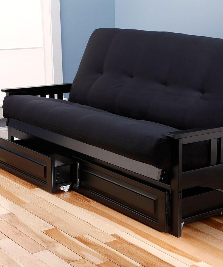 black futon mattress u0026 monterey storage frame