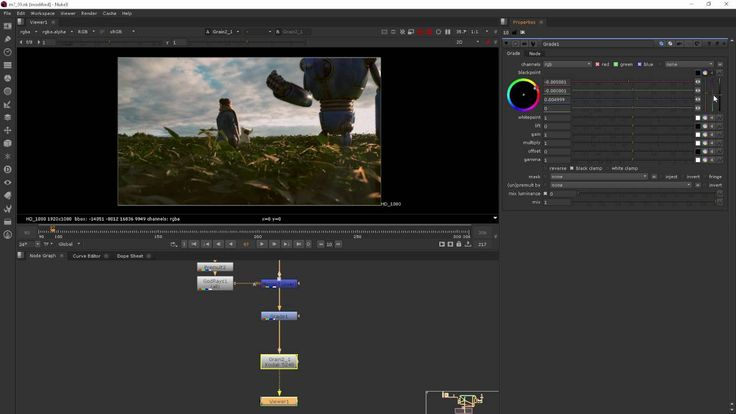 Module 7 Adding Effects - NUKE for After Effects users, part9 (GRADE)