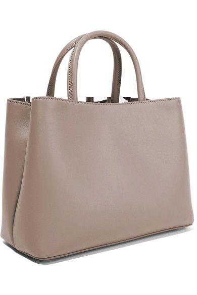Fendi - 2jours Small Leather Shopper - Beige - one size