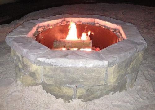 Fossill Stone Fire Pit Kit